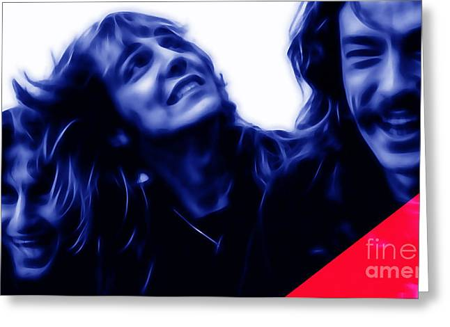 Rock Band Greeting Cards - Rush Collection Greeting Card by Marvin Blaine