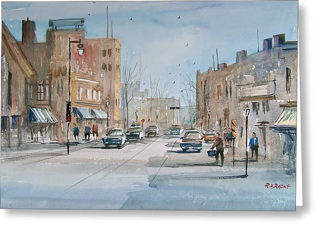 Street Scenes Greeting Cards - Rush Hour - Fond du Lac Greeting Card by Ryan Radke