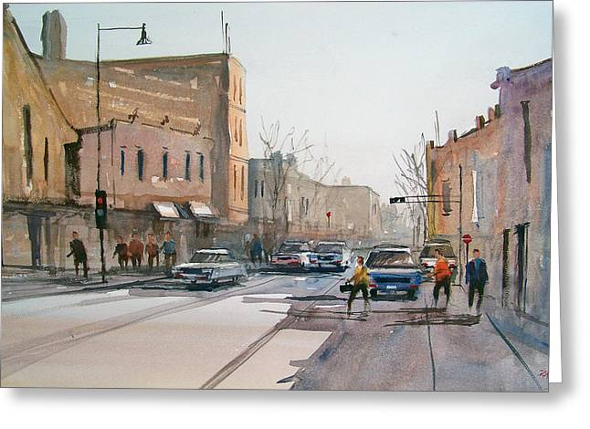 Street Scenes Greeting Cards - Rush Hour II in Fond du Lac Greeting Card by Ryan Radke