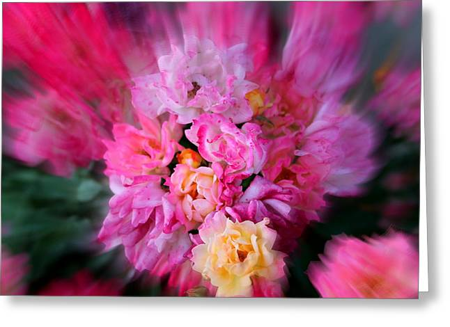 Yellow Flower Scent Greeting Cards - Rush of Colour Greeting Card by Sonja Bonitto