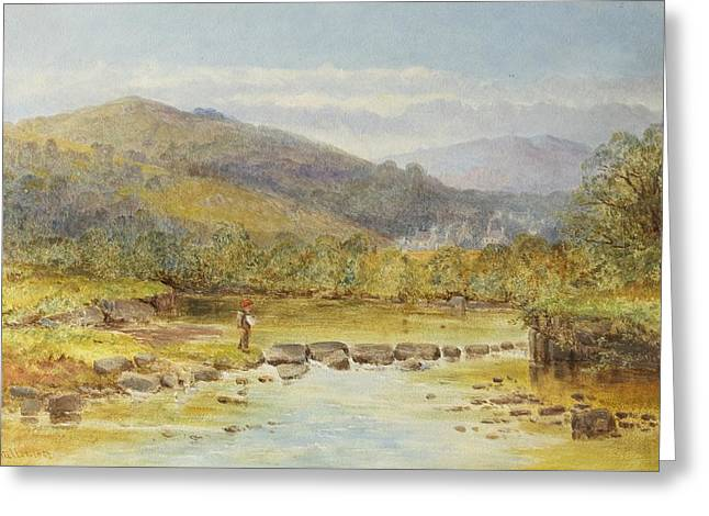 Rushford On The Teign Greeting Card by Rosa Muller