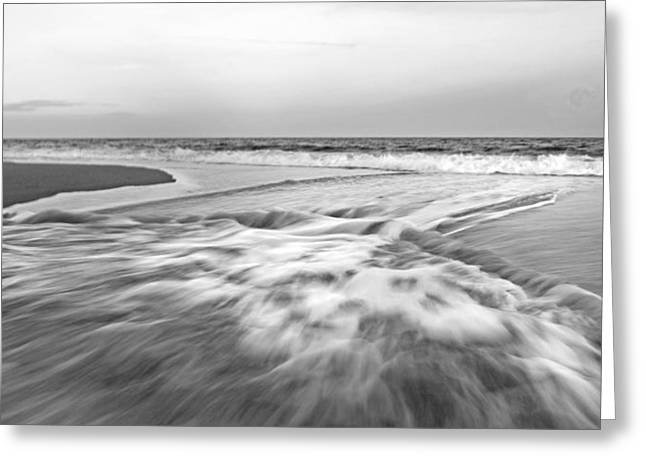 Topsail Island Greeting Cards - Rushing Impressions Greeting Card by Betsy C  Knapp