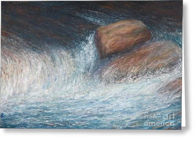 Rapids Pastels Greeting Cards - Rapids Splendor  Greeting Card by Penny Neimiller