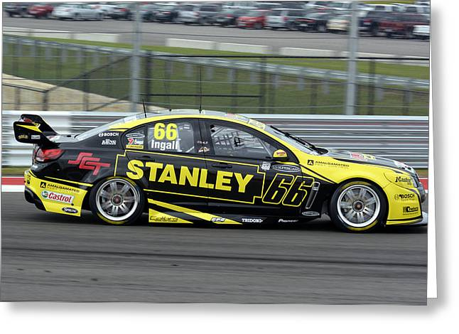 Enforcer Greeting Cards - Russell Ingall Holden Commodore VF 2013  Greeting Card by Bourne Images