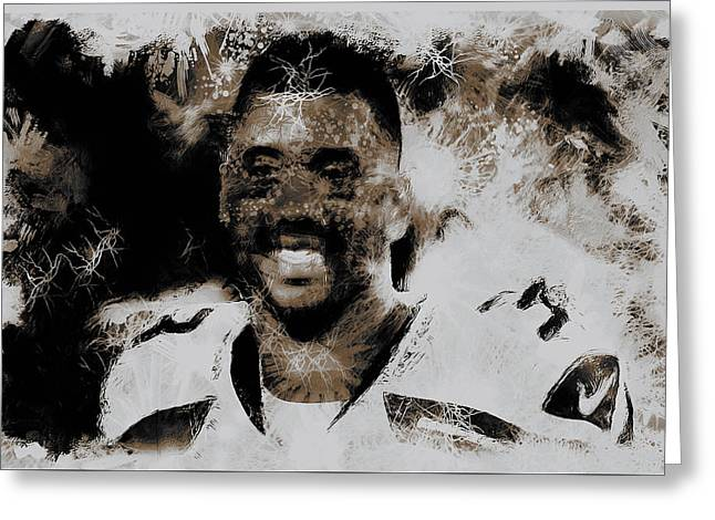 Carrington Greeting Cards - Russell Wilson 4e Greeting Card by Brian Reaves