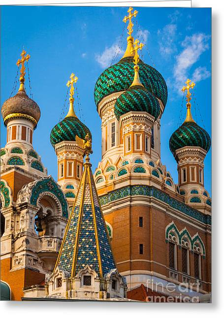 Russian Cupolas Greeting Card by Inge Johnsson
