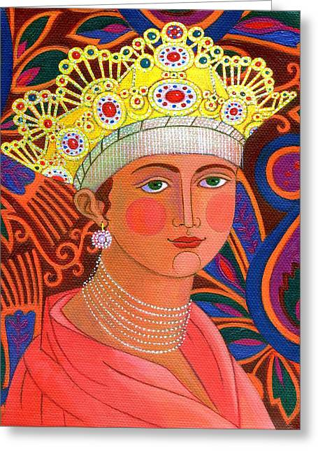 Bold Necklace Greeting Cards - Russian Princess Greeting Card by Jane Tattersfield