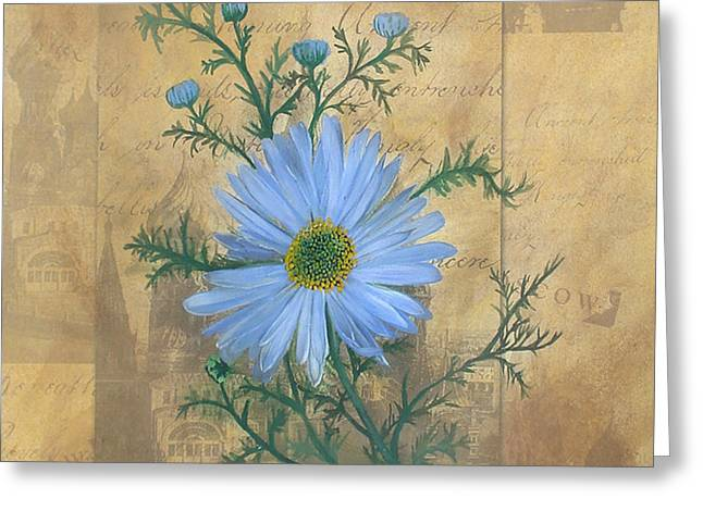 Daiseys Greeting Cards - Russias Chamomile Greeting Card by Carrie Jackson