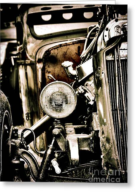Rust And Power Greeting Card by Tim Gainey