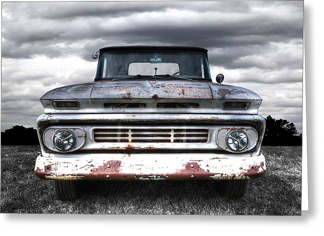 Rust And Proud - 62 Chevy Fleetside Greeting Card by Gill Billington