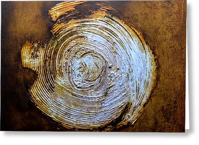 Modern Reliefs Greeting Cards - Rust Art #2 Greeting Card by Michael Kuelbel