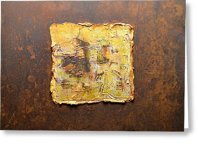 Rust Reliefs Greeting Cards - Rust Art #3 Greeting Card by Michael Kuelbel