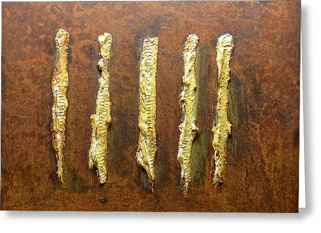 Rust Reliefs Greeting Cards - Rust Art #4 Greeting Card by Michael Kuelbel