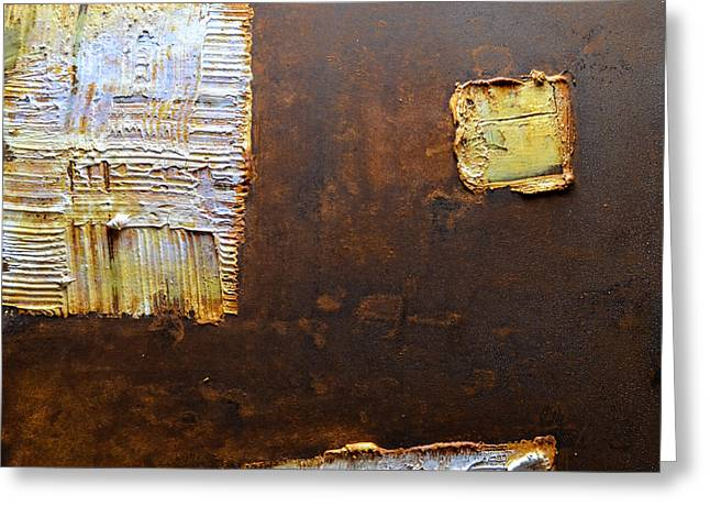 Rust Reliefs Greeting Cards - Rust Art #5 Greeting Card by Michael Kuelbel