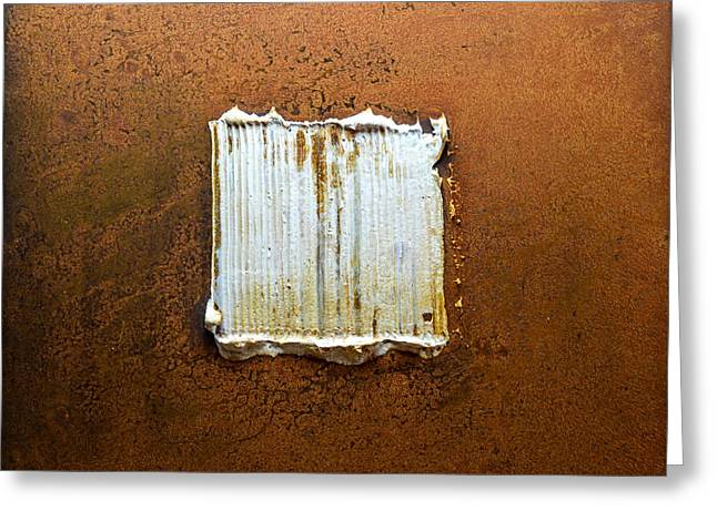 Rust Reliefs Greeting Cards - Rust Art #6 Greeting Card by Michael Kuelbel