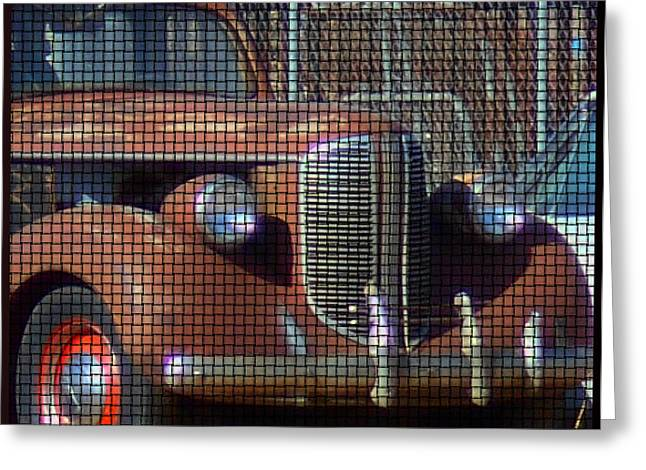 Rusted Cars Mixed Media Greeting Cards - Rusted Beauty Front End Greeting Card by Kathy Franklin