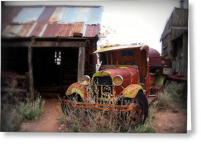 Rusted Cars Greeting Cards - Rusted classic Greeting Card by Perry Webster
