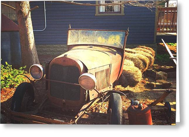 Ford Model T Car Greeting Cards - Rusted Dream Greeting Card by Jennifer Phlieger Ansier