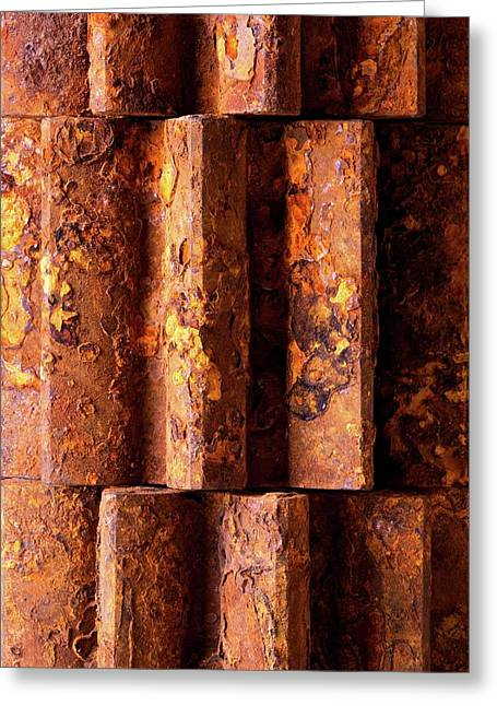 Rusted Gears 2 Greeting Card by Jim Hughes