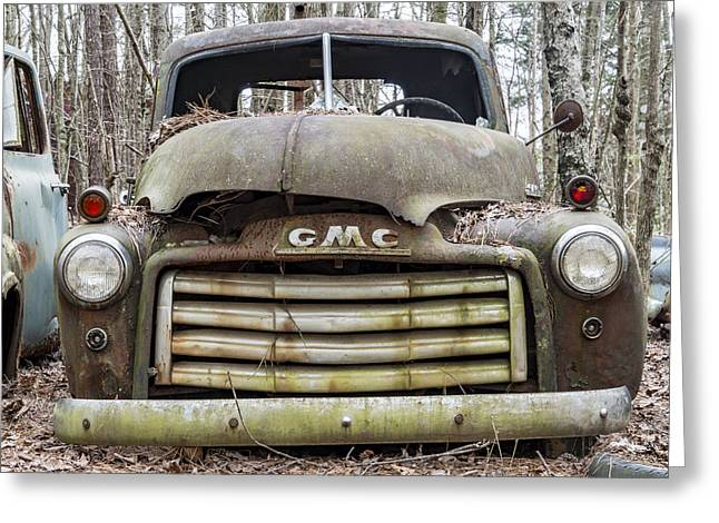 Rusted Gmc Pickup Truck Greeting Card by Robert Myers