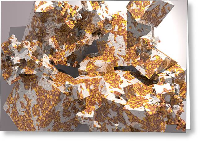 Generative Abstract Greeting Cards - Rusted Quasi Fractal 1 Greeting Card by Danilo JR
