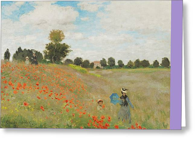 Rustic 18 Monet Greeting Card by David Bridburg