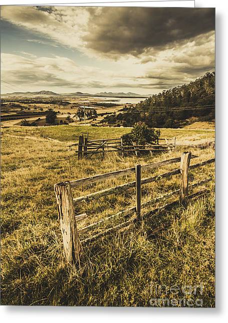Rustic And Weathered Farm View  Greeting Card by Jorgo Photography - Wall Art Gallery