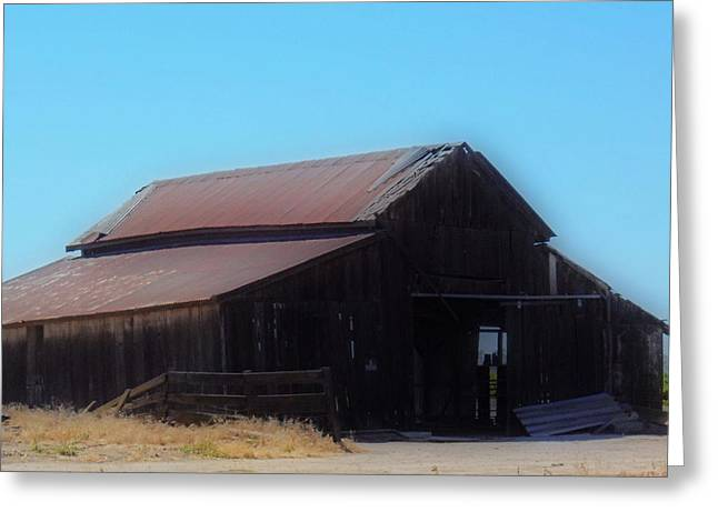 Tin Roof Greeting Cards - Rustic Barn Greeting Card by Kathy Franklin