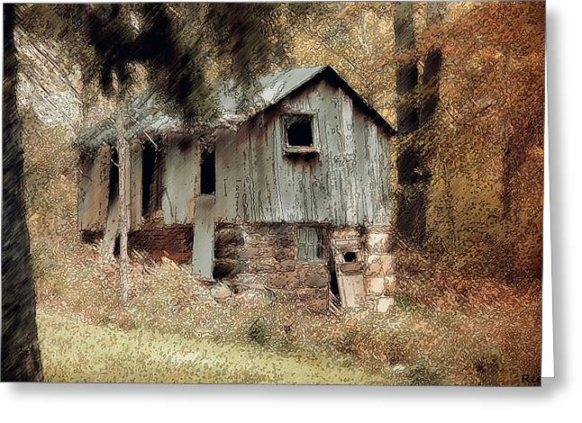 Shed Greeting Cards - Rustic Barn Greeting Card by Reese Lewis