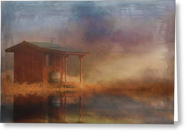 Rustic Cabin Greeting Card by Stephanie Laird