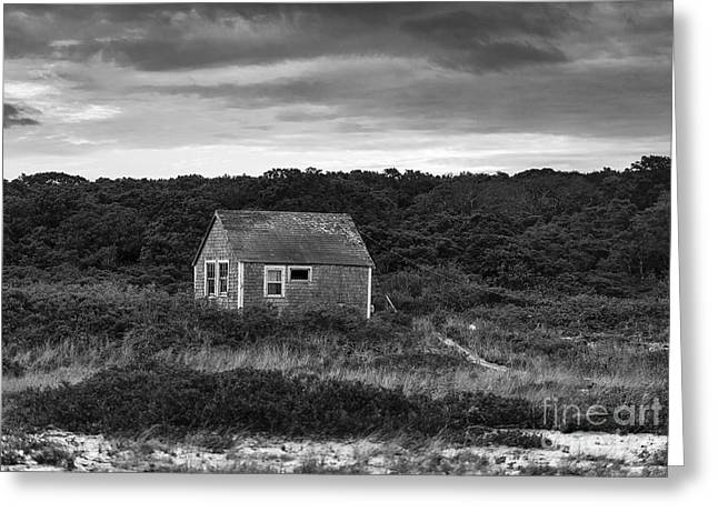 Run Down Greeting Cards - Rustic Coastal Cottage Greeting Card by John Greim