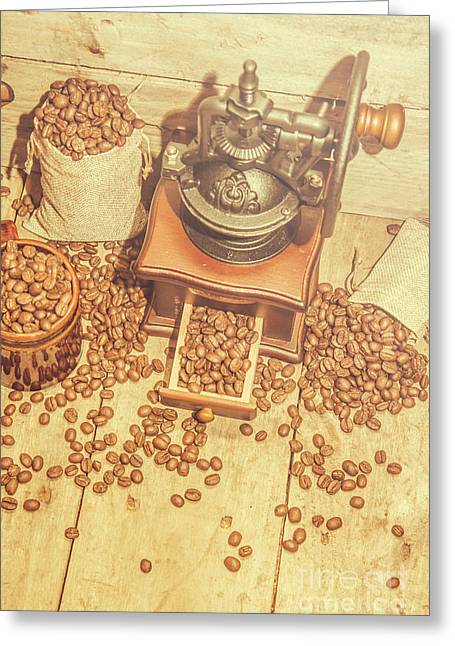 Rustic Country Coffee House Still Greeting Card by Jorgo Photography - Wall Art Gallery