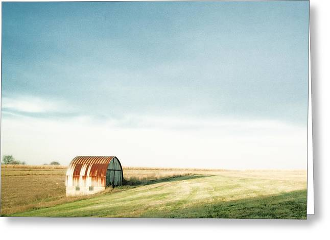 Rustic Fields Greeting Card by Todd Klassy