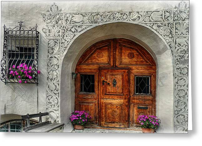 Tuer Greeting Cards - Rustic Front Door Greeting Card by Hanny Heim