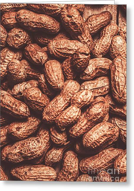 Rustic Nuts Background  Greeting Card by Jorgo Photography - Wall Art Gallery