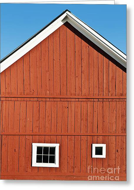 Grafton Vermont Greeting Cards - Rustic Red Barn Greeting Card by John Greim