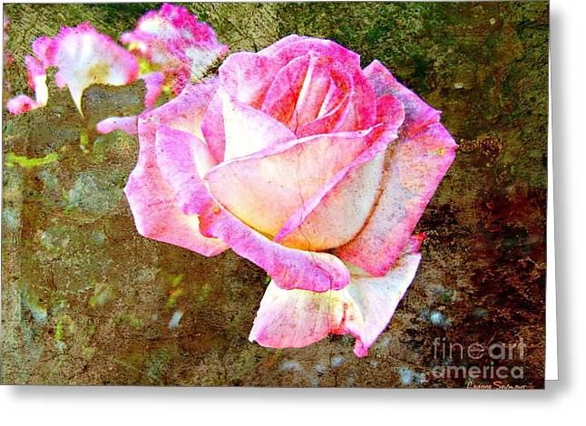 Rustic Rose Greeting Card by Leanne Seymour