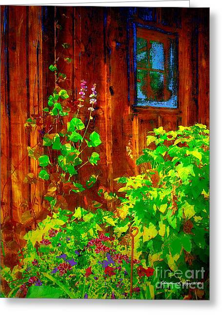 Rustic Summer Shed Greeting Card by Christine S Zipps