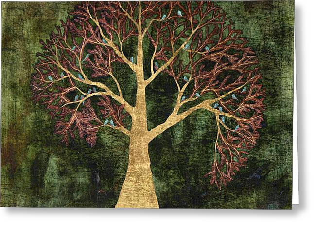 Rustic Tree Greeting Card by Sumit Mehndiratta