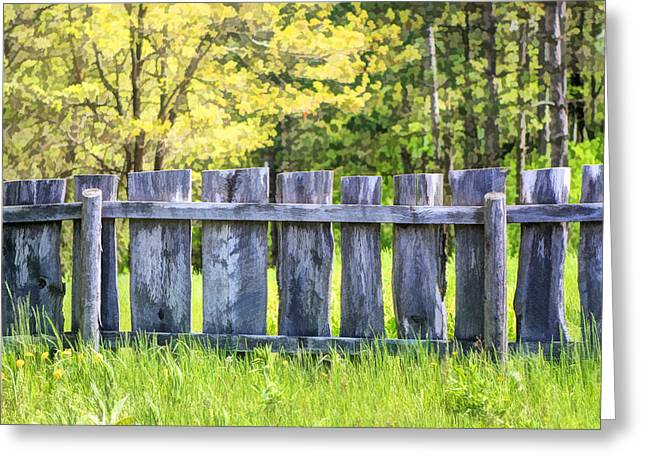 Rural Life Greeting Cards - Rustic Wooden Fence at Old World Wisconsin Greeting Card by Christopher Arndt