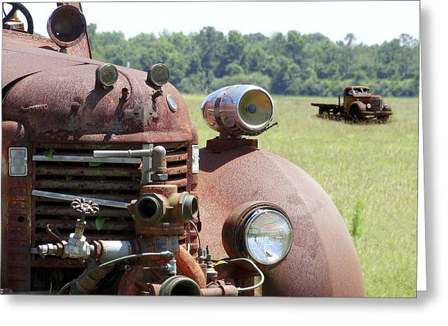 Fire Truck Greeting Cards - Rusting Away Greeting Card by Mike McGlothlen