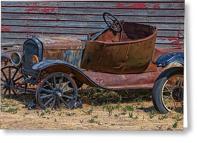 Ford Model T Car Greeting Cards - Rusting Away Greeting Card by Thomas Hall Photography