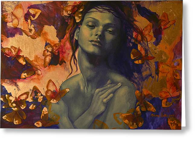 Live Paintings Greeting Cards - Rustle Greeting Card by Dorina  Costras
