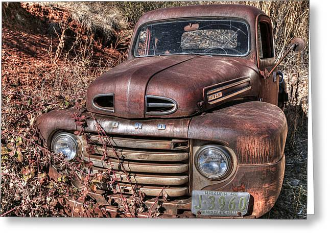 Rusty 49 Greeting Card by Donna Kennedy