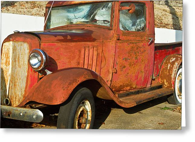 Rusty Chevrolet Pickup Truck 1934 Greeting Card by Douglas Barnett