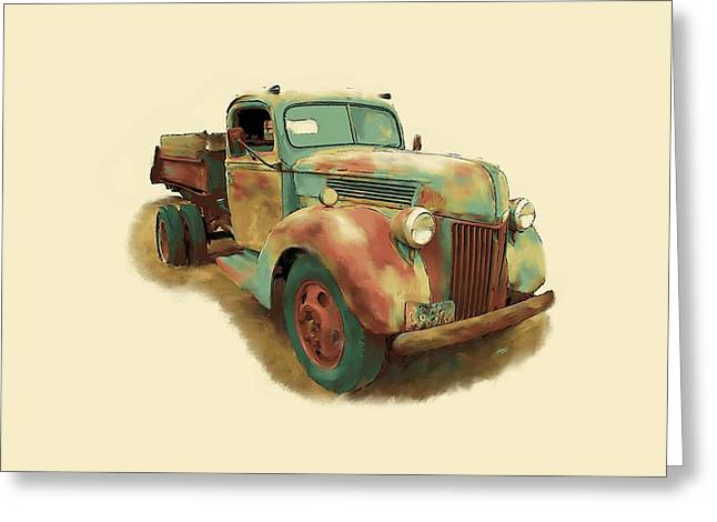 Ford Model T Car Greeting Cards - Rusty Dump Truck Greeting Card by Tim Tompkins