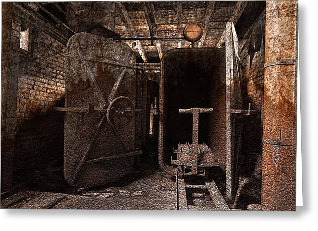 Industrial Concept Greeting Cards - Rusty Grunge Mill Greeting Card by Nicolas Raymond