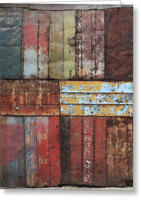Metal Sheet Greeting Cards - Rusty IV Greeting Card by Roland Krawulsky