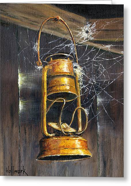 Bob Hallmark Greeting Cards - Rusty Lantern Greeting Card by Bob Hallmark