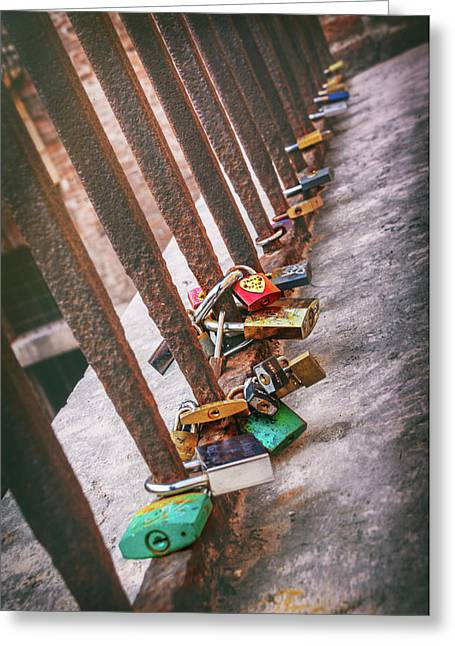 Rusty Love In Verona Greeting Card by Carol Japp